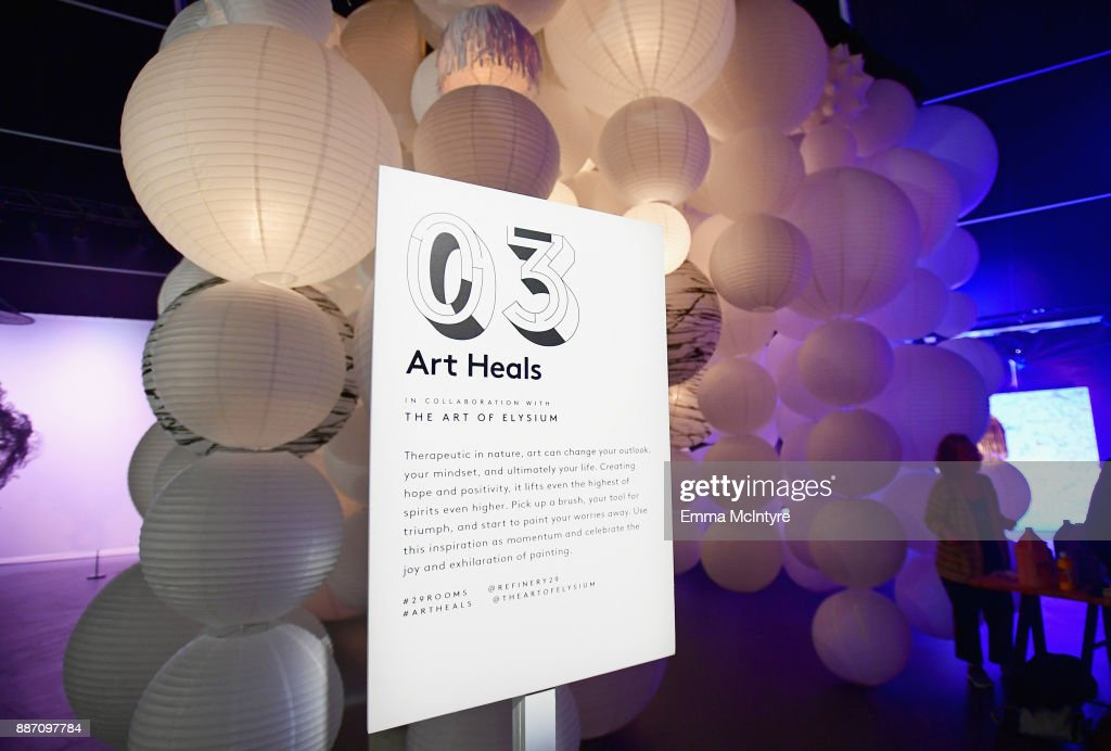 The Art Of Elysium's Art Heals on display at Refinery29's '29Rooms Los Angeles: Turn It Into Art' on December 6, 2017 in Los Angeles, California.