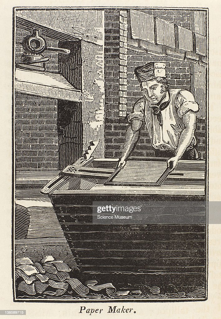 The art of making paper as at present practised is not of a very ancient date paper made of linen rags appears to have been first used in Europe...