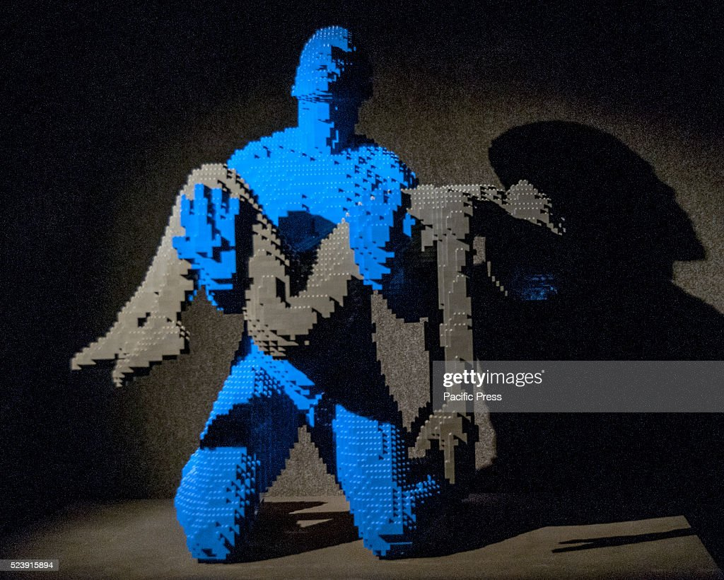 'The Art of The Brick' by <a gi-track='captionPersonalityLinkClicked' href=/galleries/search?phrase=Nathan+Sawaya&family=editorial&specificpeople=6483794 ng-click='$event.stopPropagation()'>Nathan Sawaya</a> in Rome. It is an exhibition of more than 80 sculptures made with Lego bricks; staying on display until April 25.