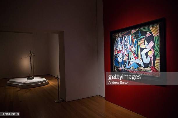 The art work 'Les femmes d'Alger ' painted by Pablo Picasso is displayed at Christie's on May 11 2015 in New York City The painting sold for a...