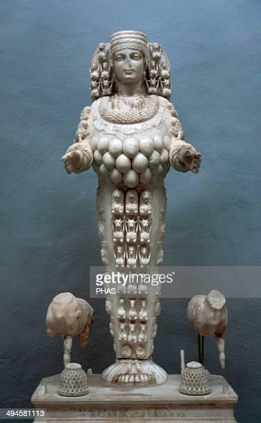 The Artemis of Ephesus 1st century AD Lady of Ephesus Adorned with multiple rounded breast like protuberances on her chest Ephesus Archaeological...
