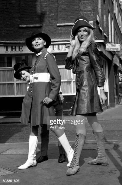 The Artful Dodger alias 12yearold actor Jack Wild is at large and keeping tabs on models Marion Gordon and Babara Konik who model 'Oliver' inspired...