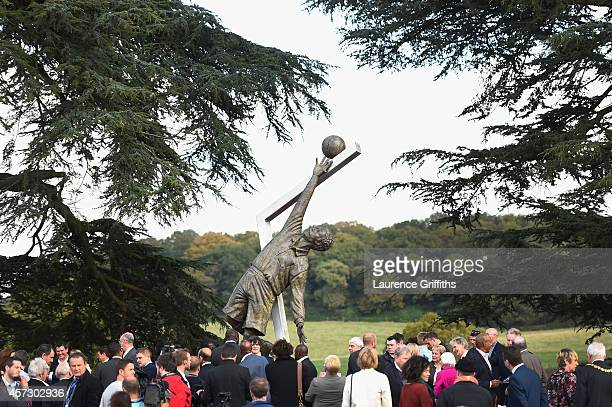 The Arthur Wharton Statue is unveiled at St George's Park on October 16 2014 in BurtonuponTrent EnglandArthur Wharton was the world's first black...