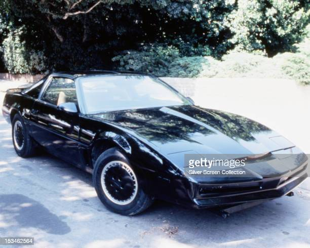 KITT the artificially intelligent supercar featured in the American TV show 'Knight Rider' circa 1983 The car is based on a Pontiac Trans Am