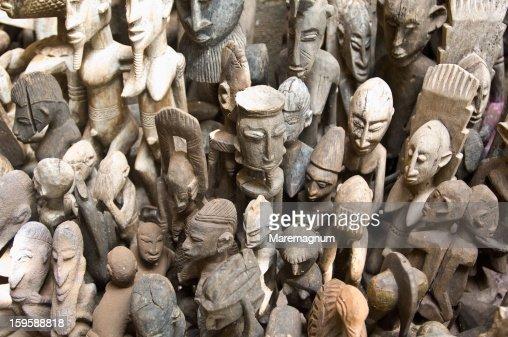 The artisanal market of Bamako : Stock Photo