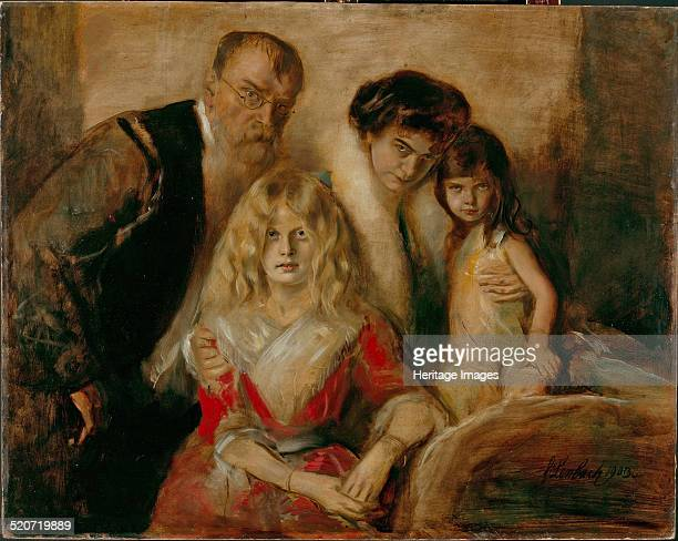 The Artist with his Wife and Children Found in the collection of Städtische Galerie im Lenbachhaus Munich
