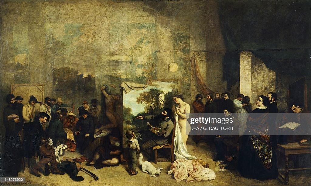 The artist's studio by Gustave Courbet Paris Musée D'Orsay