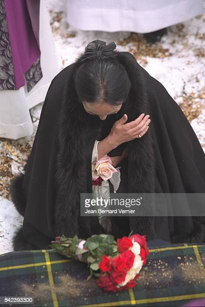 The artist's wife Setsuko