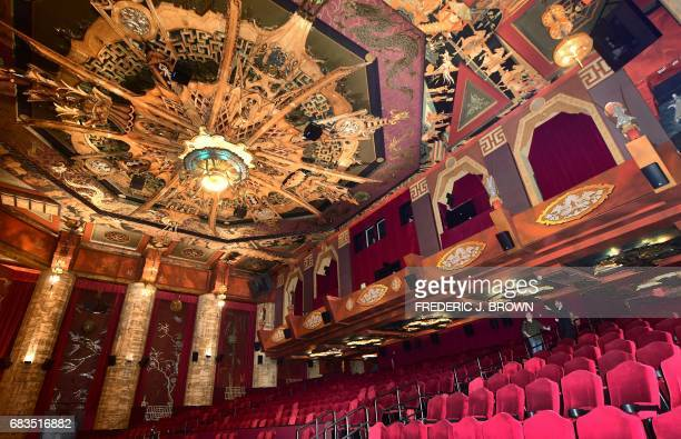 The artwork began in 1928 by Chineseborn American actor Keye Luke remains decorating the ornate ceiling inside the TCL Chinese Theater in Hollywood...