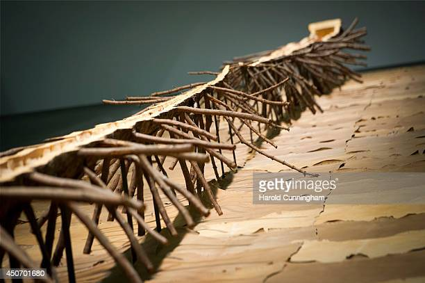 The artwork 'Matrice di Linfa' by Giuseppe Penone is displayed in the Unlimited section of Art Basel on June 16 2014 in Basel Switzerland Art Basel...