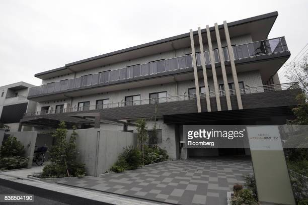 The As Partners Co Asheim Nerima Garden nursing home stands in Tokyo Japan on Friday Aug 18 2017 Its caregivers can monitor the health of dozens of...
