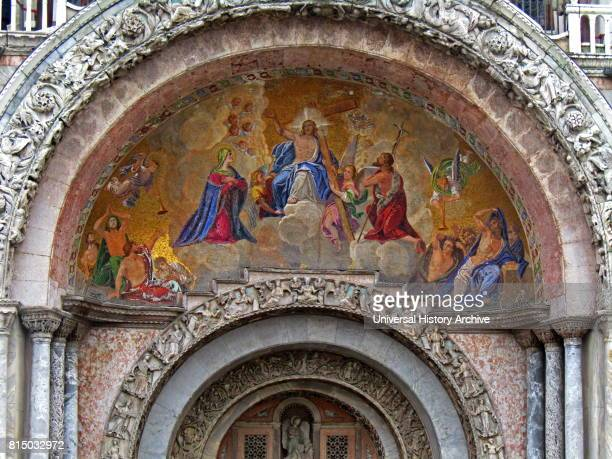 The Ascension of Christ depicted in a mosaic adorning the Cathedral Basilica of Saint Mark in Venice Italy It is the most famous of the city's...