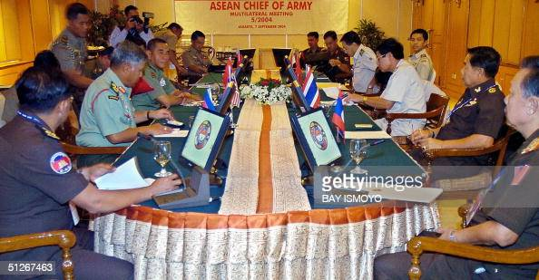 The ASEAN army chiefs hold a meeting in Jakarta 07 September 2004 Southeast Asian nations need to strengthen military ties to halt crossborder...