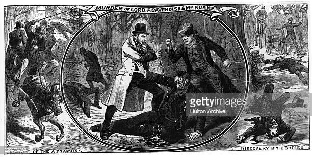 The assassination of English politician Frederick Cavendish and English politician Thomas Henry Burke by the nationalist group 'The Invincibles' in...