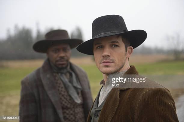 TIMELESS 'The Assassination of Jesse James' Episode 111 Pictured Matt Lanter as Wyatt Logan