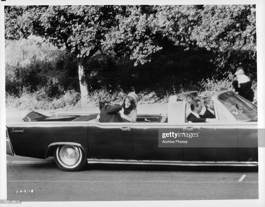 The assassination of John F Kennedy as portrayed in a scene from the film 'Executive Action' 1973