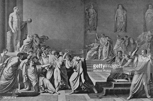 The assassination of Julius Caesar at the Senate in Rome 15th March 44 BC