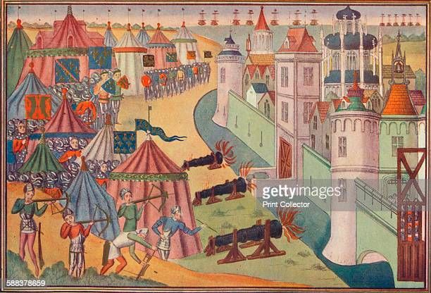 The assault on the strong town of Africa 1390 The siege of the town of Mahdia in Tunisia during the Barbary Crusade From Cassell's History of England...