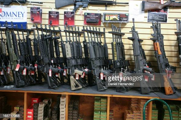 CONTENT] The assault rifles rack at Discount Firearms and Ammo one of the largest gun retailers in Nevada