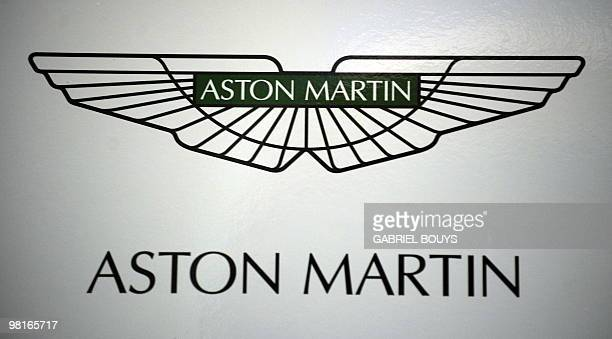 The Aston Martin logo is displayed during the Los Angeles Auto Show on December 2 2009 in Los Angeles California The Los Angeles Auto Show will be...
