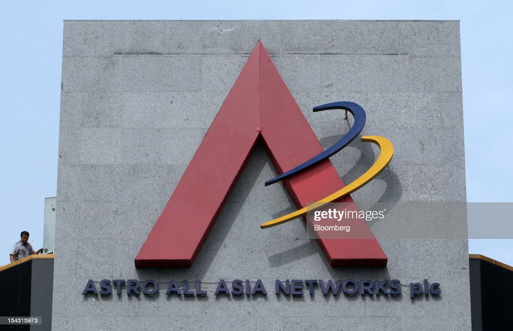 The Astro Malaysia Holdings Bhd. logo is displayed atop the company's headquarters in Kuala Lumpur, Malaysia, on Thursday, Oct. 18, 2012. Astro Malaysia, the country's largest pay-TV broadcaster that raised 4.6 billion ringgit ($1.5 billion) in an initial public offering, is scheduled to begin trading at 9am tomorrow. Photographer: Goh Seng Chong/Bloomberg via Getty Images