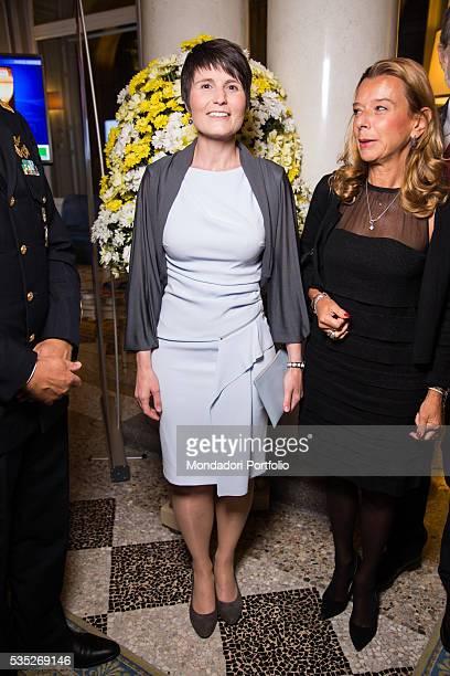 The astronaut Samantha Cristoforetti at the saturday evening gala at the Forum Ambrosetti in Villa d'Este Cernobbio Italy 5th September 2015