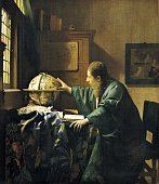 The Astronomer by Jan Vermeer oil on canvas 51x45 cm Paris Musée Du Louvre