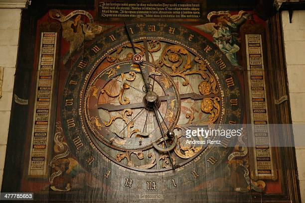 The astronomical clock a marvel of the late middle ages the calendar which reaches into the year 2071 is pictured at the Cathedral Church of Saint...
