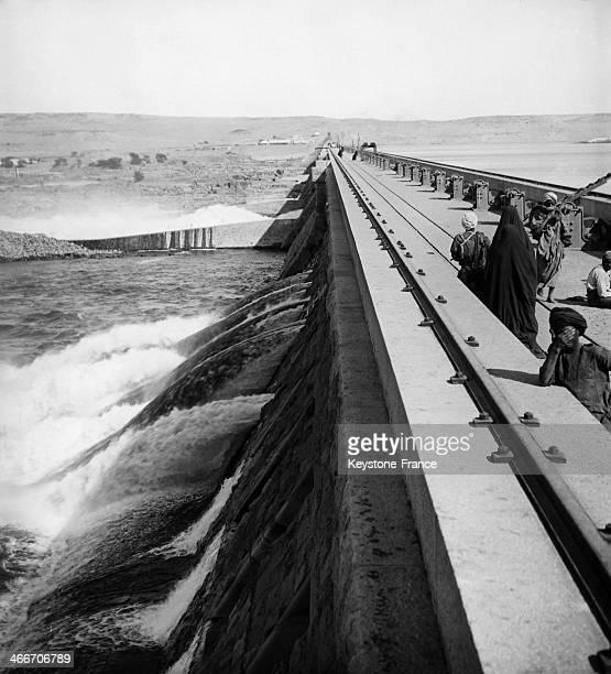 The Aswan Dam circa 1910 in Aswan Egypt