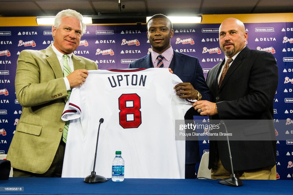 The Atlanta Braves announce that Justin Upton #10 will be joining the Atlanta Braves as the new left fielder on Tuesday January 29, 2013.