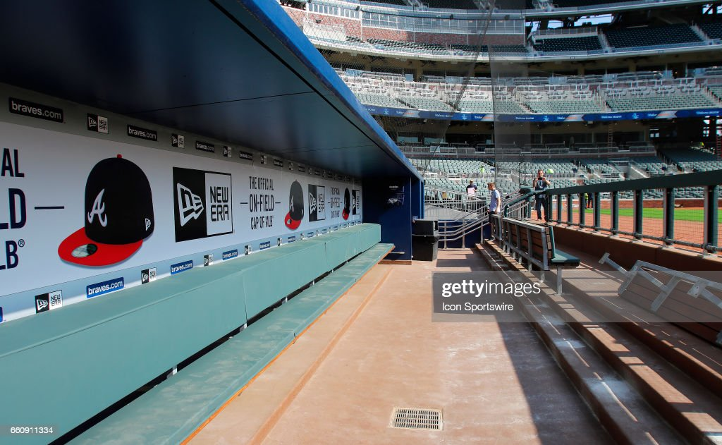 The Atlanta Braves Dugout At New SunTrust Park That Is Home Of