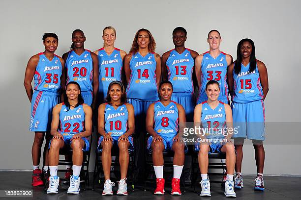 The Atlanta Dream pose for a team portrait at Philips Arena on September 30 2012 in Atlanta Georgia NOTE TO USER User expressly acknowledges and...