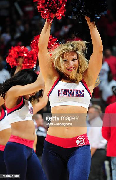 The Atlanta Hawks dance team performs during the game against the Phoenix Suns on April 7 2015 at Philips Arena in Atlanta Georgia NOTE TO USER User...