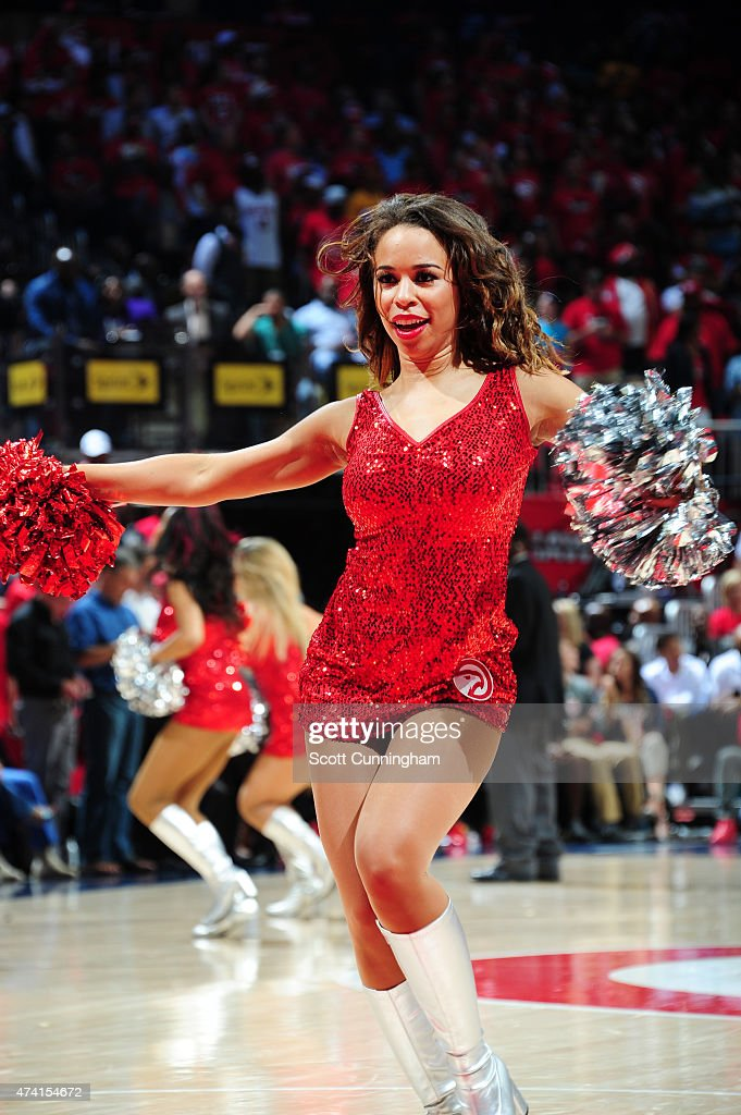 The Atlanta Hawks dancers perform during Game One of the Eastern Conference Finals against the Cleveland Cavaliers during the NBA Playoffs on May 20...