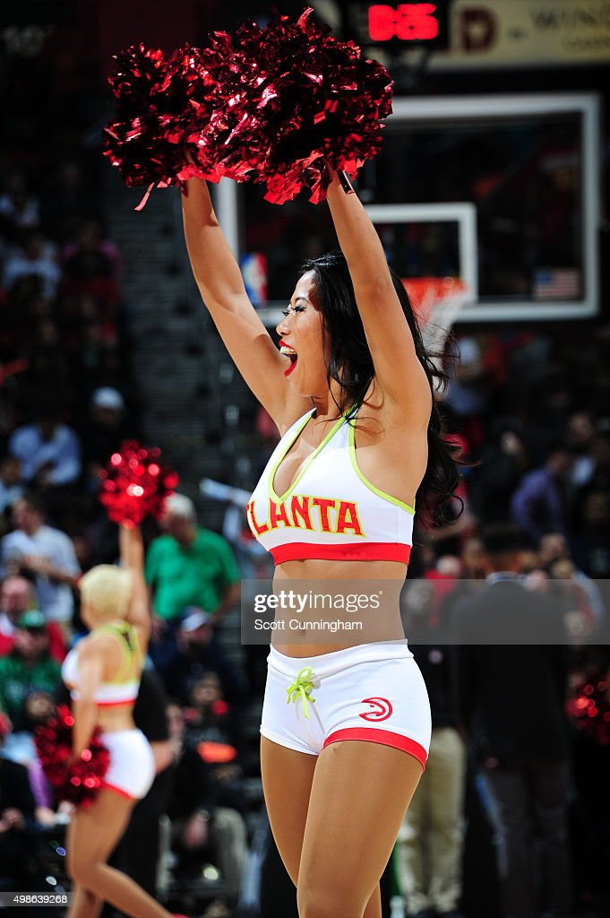 The Atlanta Hawks dancers perform during the game against the Boston Celtics on November 24 2015 at Philips Arena in Atlanta Georgia NOTE TO USER...