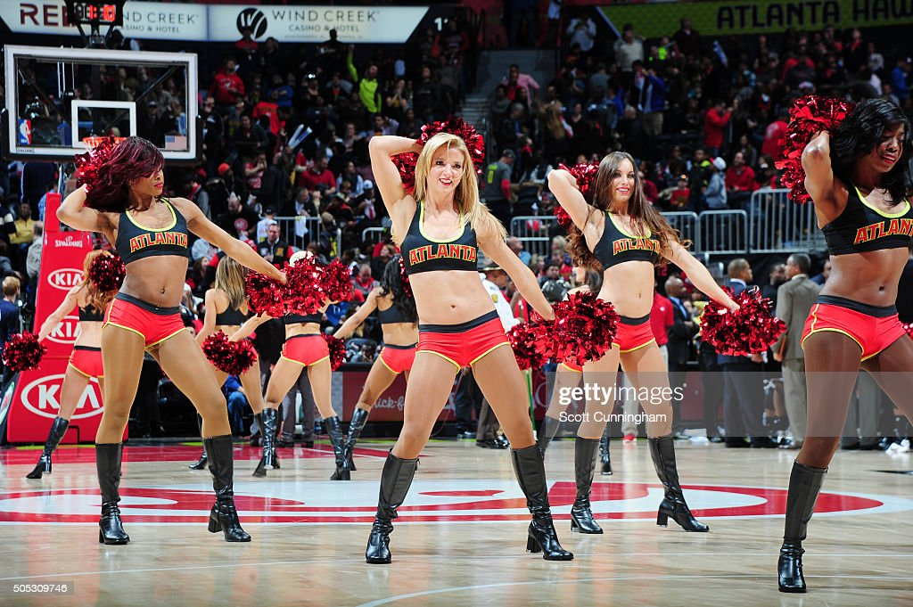 The Atlanta Hawks dancers perform during the game against the Brooklyn Nets on January 16 2016 at Philips Arena in Atlanta Georgia NOTE TO USER User...