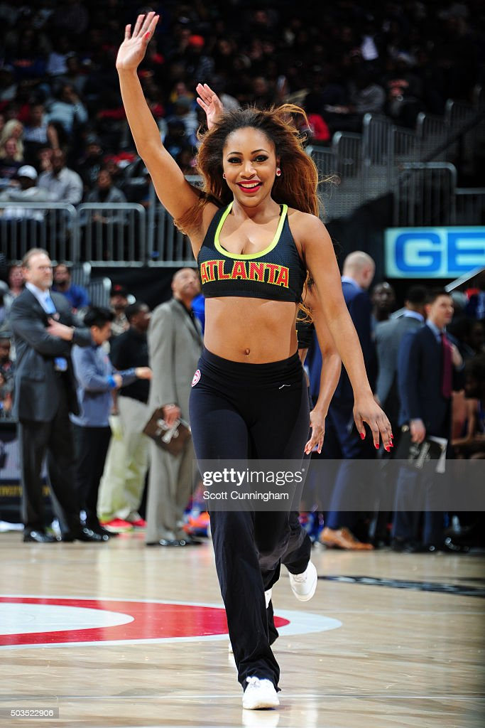 The Atlanta Hawks dancers perform during the game against the New York Knicks on January 5 2016 at Philips Arena in Atlanta Georgia NOTE TO USER User...
