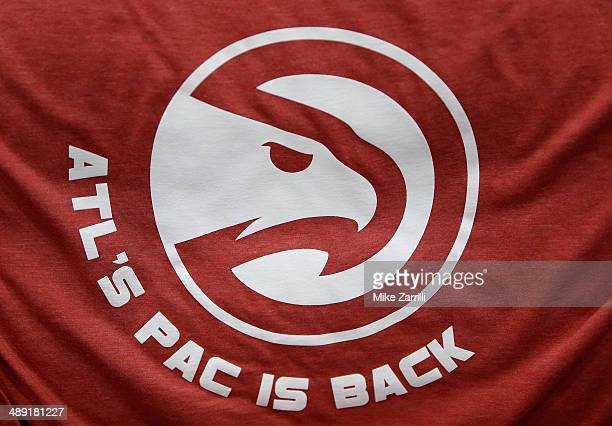 The Atlanta Hawks introduced their secondary logo on tshirts that were distributed to fans during Game Six of the Eastern Conference Quarterfinals...