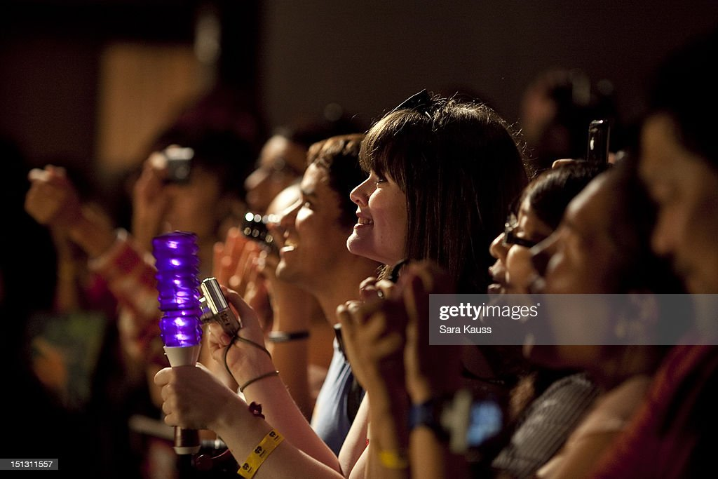 The atmosphere as Wonder Girls perform onstage at iHeartRadio Presents Wonder Girls at iHeartRadio Performance Theater on September 5, 2012 in New York City.