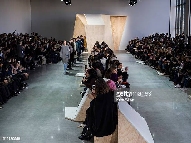The atmosphere at Lacoste Fall 2016 during New York Fashion Week at Spring Studios on February 13 2016 in New York City