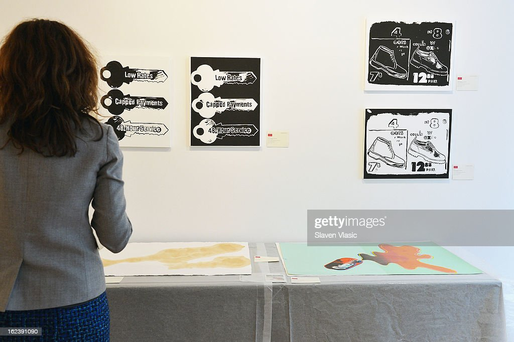 The atmosphere at the press preview for the Andy Warhol @ Christie's online-only sale on February 22, 2013 in New York City. The sale will be the first ever online-only sale of Warhol's work with 125 pieces and runs February 26 to March 5.