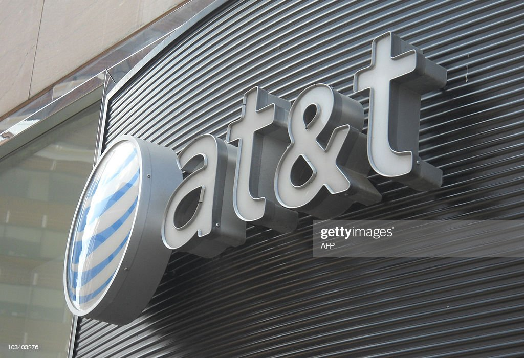 The AT&T logo is seen on June 2, 2010 in Washington DC.AFP PHOTO/Etienne FRANCHI