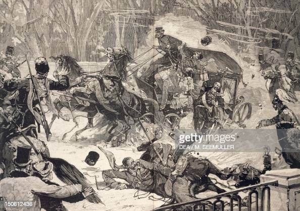 The attempt on Alexander II Romanov in St Petersburg March 13 1881 Russia 19th century