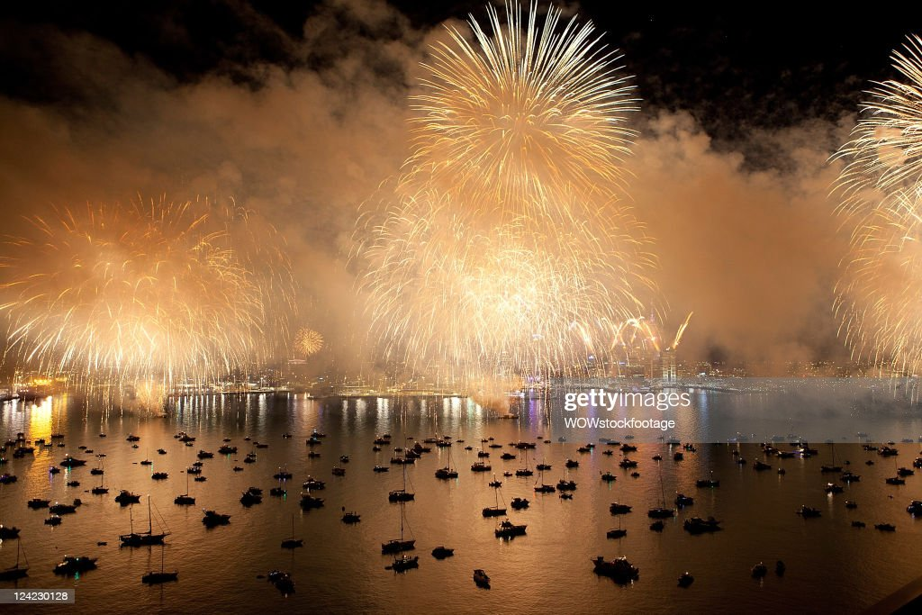 The Auckland skyline is lit up by a fireworks show during the opening festivities of the IRB 2011 Rugby World Cup on September 9, 2011 in Auckland, New Zealand.