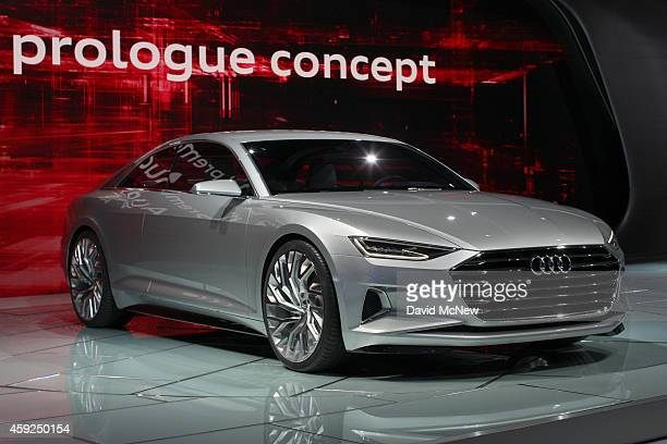 The Audi R8 makes its debut at the 2014 Los Angeles Auto Show on November 19 2014 in Los Angeles California This year's show is slated to have a...