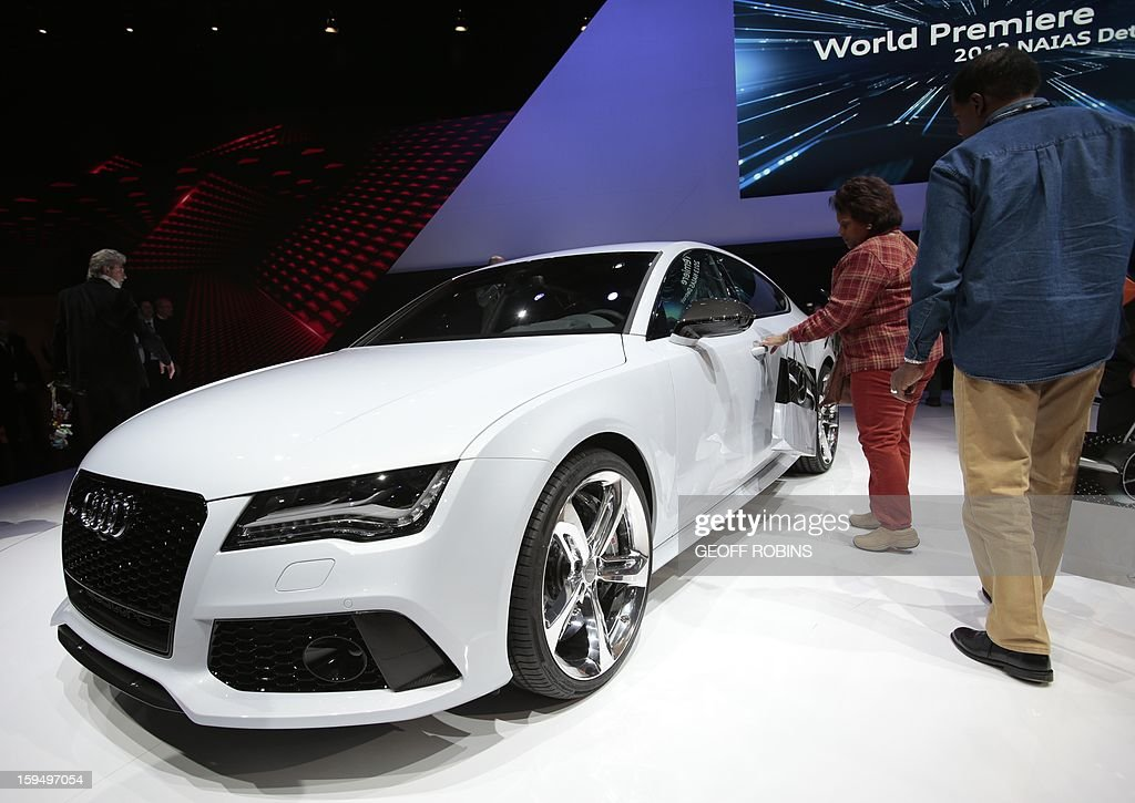The Audi RS7 is introduced at the 2013 North American International Auto Show in Detroit, Michigan, on January 14, 2013. AFP PHOTO/Geoff Robins