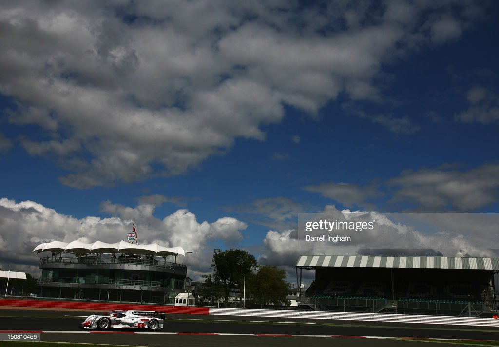 The #1 Audi Sport Team Joest Audi R18 e-tron Quattro driven by <a gi-track='captionPersonalityLinkClicked' href=/galleries/search?phrase=Andre+Lotterer&family=editorial&specificpeople=2380096 ng-click='$event.stopPropagation()'>Andre Lotterer</a>, <a gi-track='captionPersonalityLinkClicked' href=/galleries/search?phrase=Benoit+Treluyer&family=editorial&specificpeople=4333474 ng-click='$event.stopPropagation()'>Benoit Treluyer</a> and <a gi-track='captionPersonalityLinkClicked' href=/galleries/search?phrase=Marcel+Fassler&family=editorial&specificpeople=558832 ng-click='$event.stopPropagation()'>Marcel Fassler</a> leads during the FIA World Endurance Championship 6 Hours of Silverstone race at the Silverstone Circuit on August 26, 2012 in Towcester, United Kingdom.