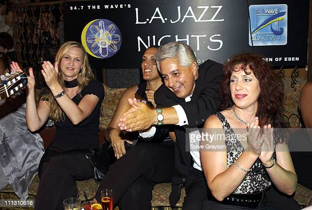 The audience applauds Peter White's performance during 947 The Wave Presents LA Jazz Nights at The Garden of Eden in Hollywood California United...