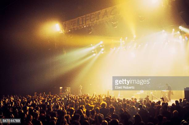The audience at a Joey Ramone Tribute concert at the Hammerstein Ballroom in New York City on May 192001