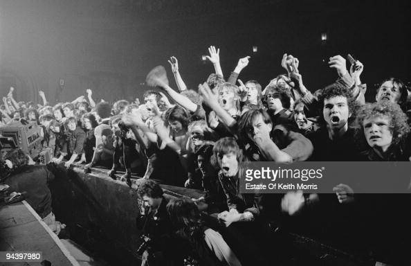 The audience at an Eddie and the Hot Rods concert at the Rainbow in London February 1977